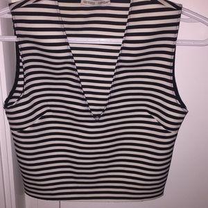 ZARA black & white sleepless top
